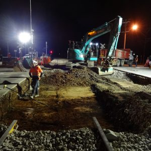 rail night works