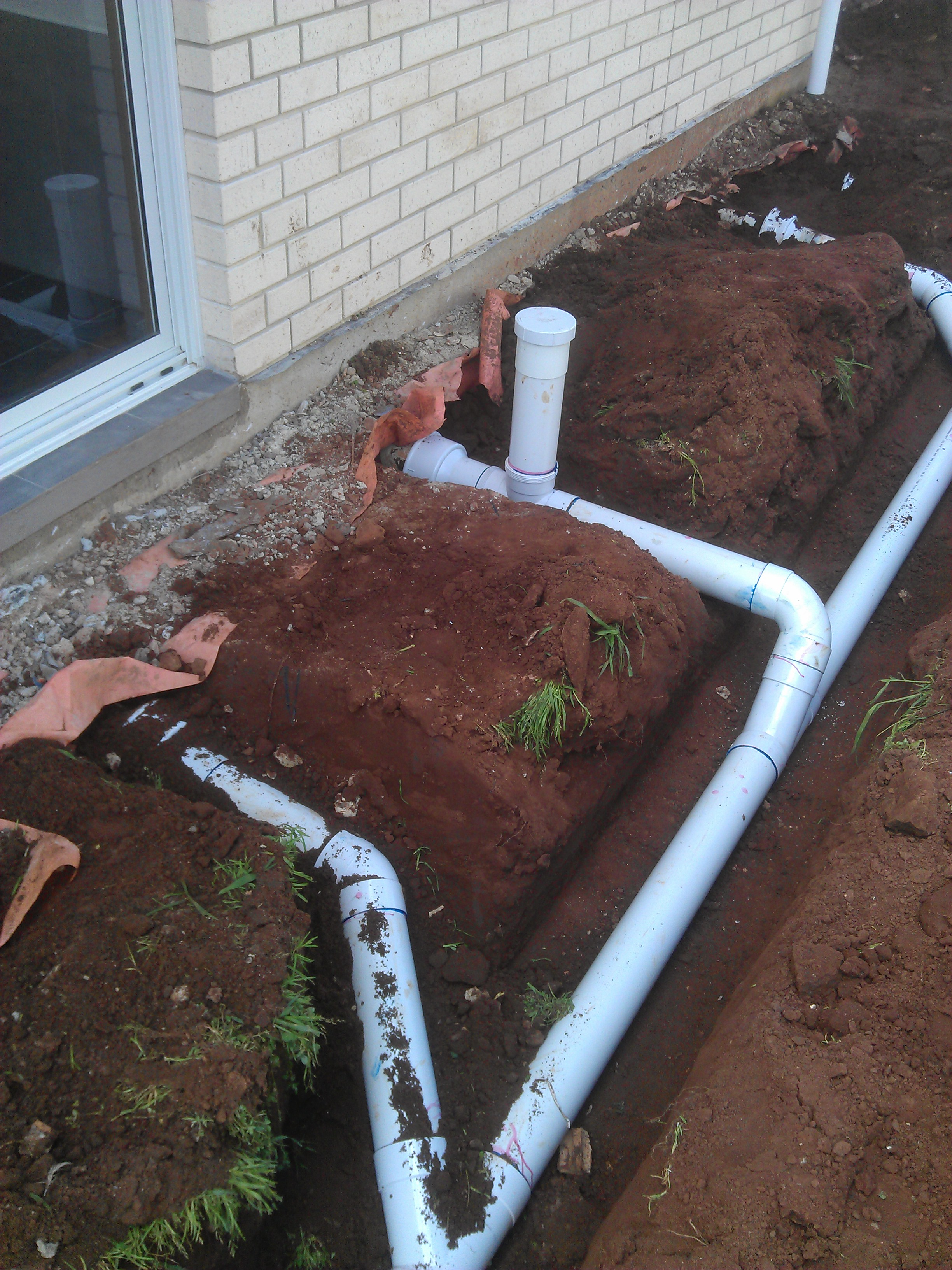 plumbing trenches